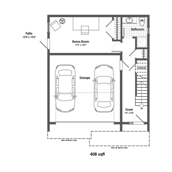 Detached Home Floorplan Lower Floor