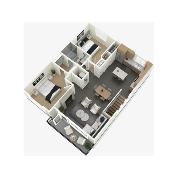 Detached Home 3D Floorplan Main Floor