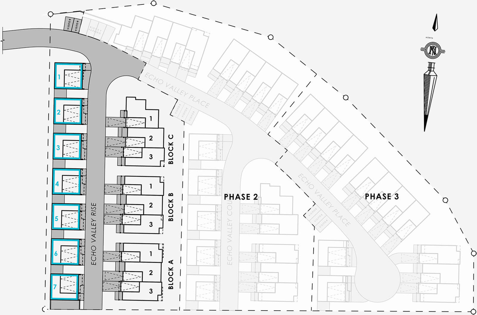 Detached Homes Site Map