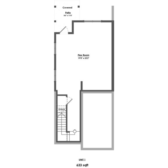 Unit 1 Floorplan Lower Floor