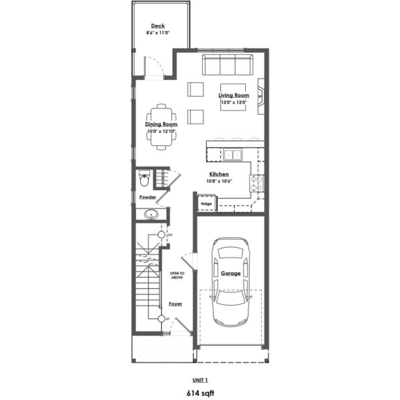 Unit 1 Floorplan Main Floor