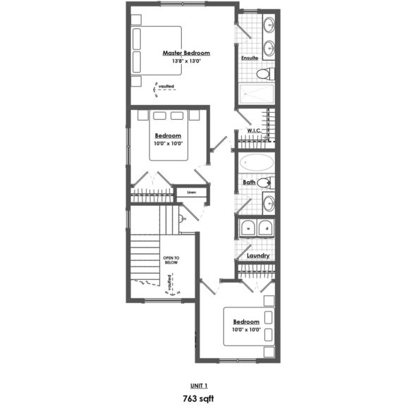 Unit 1 Floorplan Upper Floor
