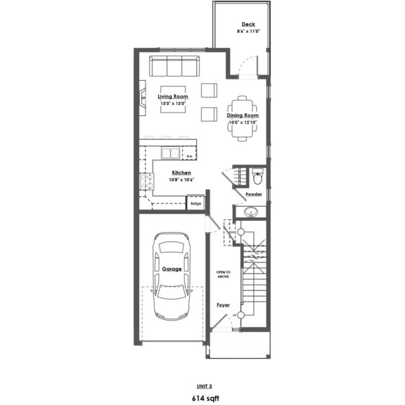Unit 3 Floorplan Main Floor