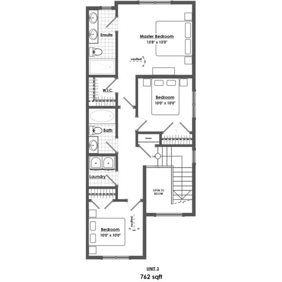 Unit 3 Floorplan Upper Floor