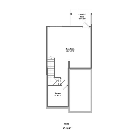 Unit 2 Floorplan Lower Floor