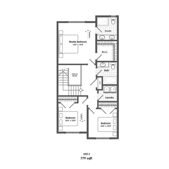 Unit 2 Floorplan Upper Floor